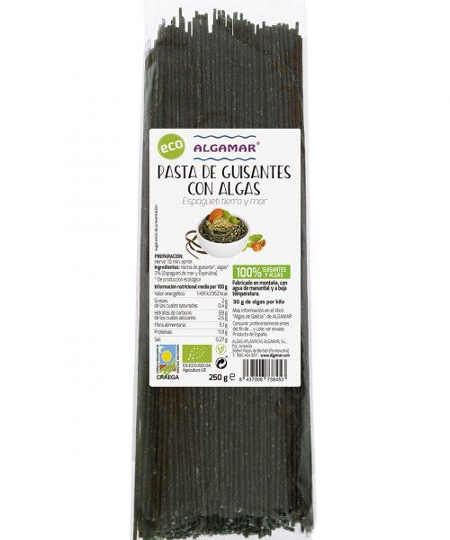 pasta de guisantes con algas algamar