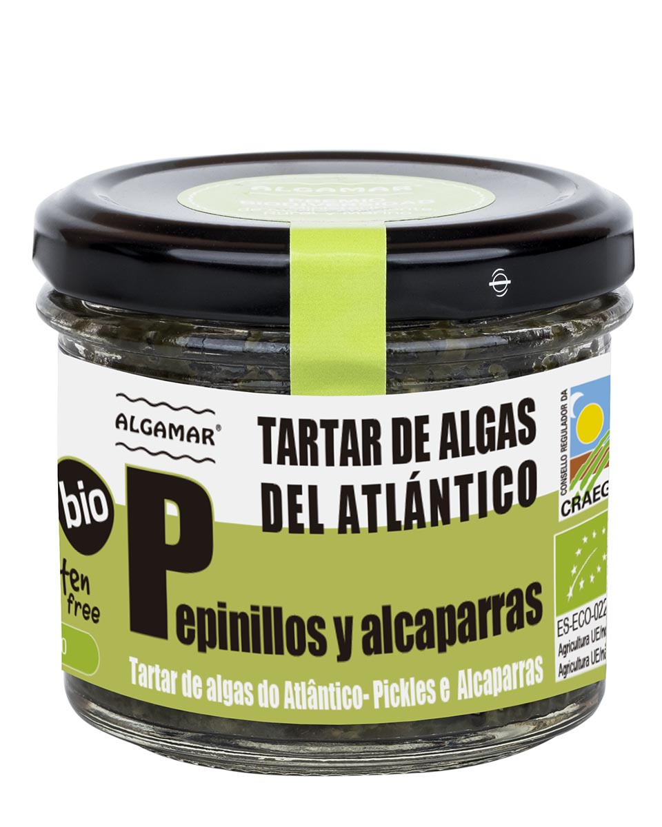 TARTAR DE ALGAS ATLÁNTICAS DE PEPINILLOS Y ALCAPARRAS – 100 g